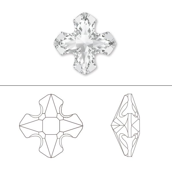スワロフスキー 『#4784 Greek Cross Fancy Stone クリスタル 8mm 1粒』 SWAROVSKI スワロフスキー社