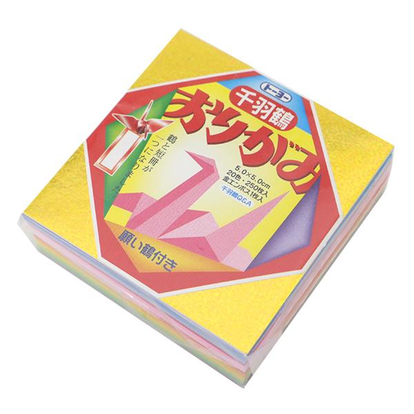 折り紙 千代紙 『ミニ千羽鶴おりがみ 5.0 002001』 トーヨー