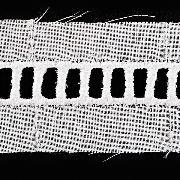 【数量5から】レースリボンテープ 『綿レース 白 幅約25mm 229740』