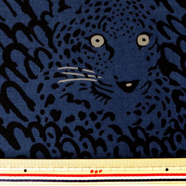 【数量5から】生地 『綿麻キャンバス ヒョウ UP5695-B う早この布』 COTTON KOBAYASHI コットンこばやし 小林繊維