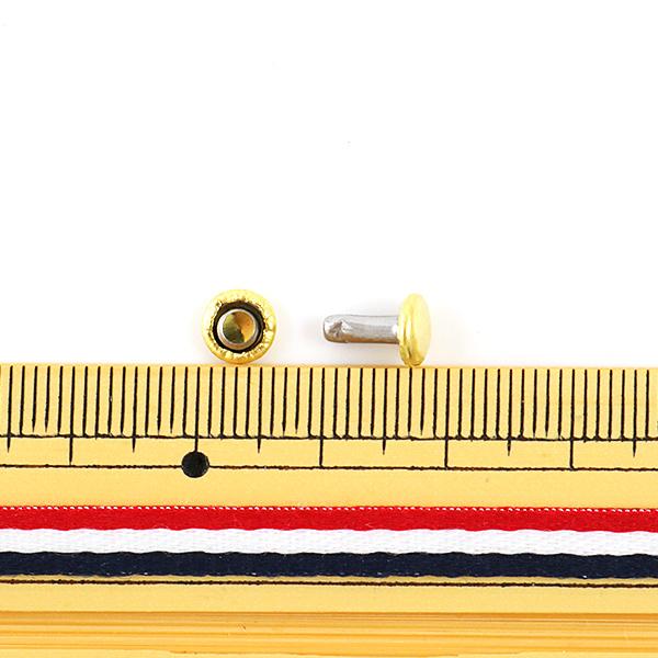 【レザークラフト最大20%オフ】 手芸金具 『両面足長カシメ 小 G 10個入り 1005-02』 LEATHER CRAFT クラフト社
