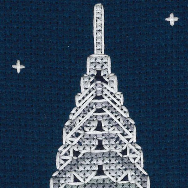 刺しゅうキット 『CHRYSLER BUILDING KIT BK1724 クライスラービルディング』 DMC ディーエムシー