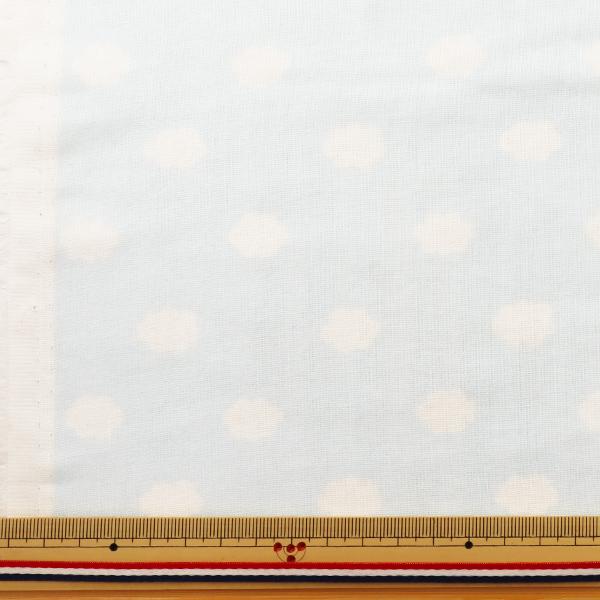 【数量5から】生地 『Wガーゼ (ダブルガーゼ) プリント ホーミーコレクション くも柄 サックス GH12987S-B』