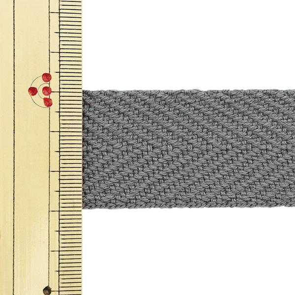 【数量5から】 手芸テープ 『太綾テープ 30mm #534 灰色』 【ユザワヤ限定商品】
