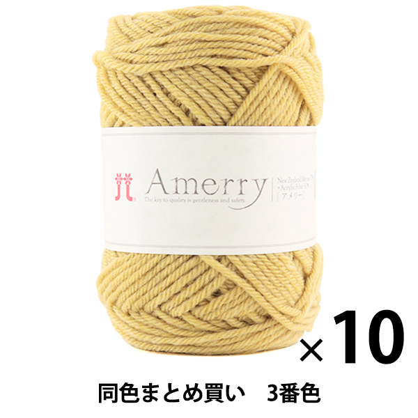 【10玉セット】秋冬毛糸 『Amerry(アメリー) 3番色』 Hamanaka ハマナカ【まとめ買い・大口】