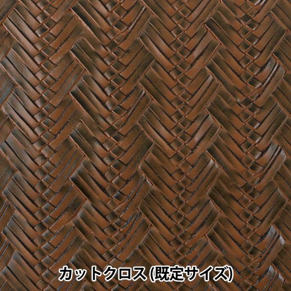 生地 『フェイクレザー カットクロス 編上風 4番色 約72×43cm C-2110-04BR』