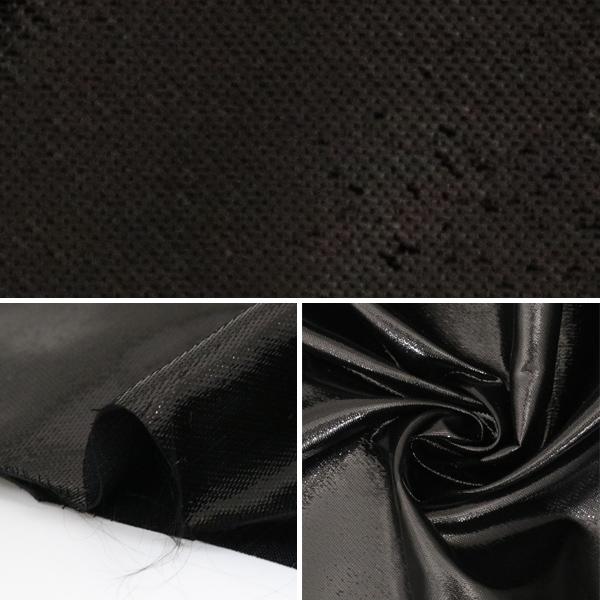 【数量5から】 生地 『ラメサテン 498 ブラック』