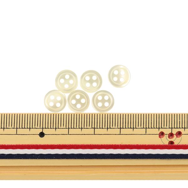 ボタン 『シャツボタン 四つ穴 9mm 6個入り 2番色 PVSO9001-02-9』