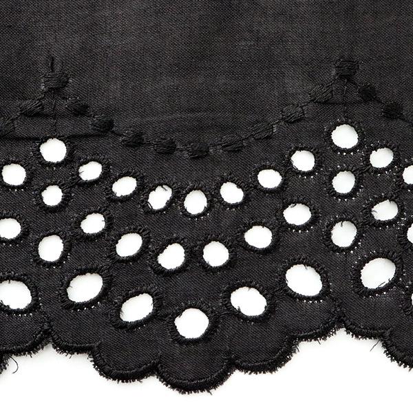 【数量5から】レースリボンテープ 『綿レース 黒 幅約110mm T23417-19』