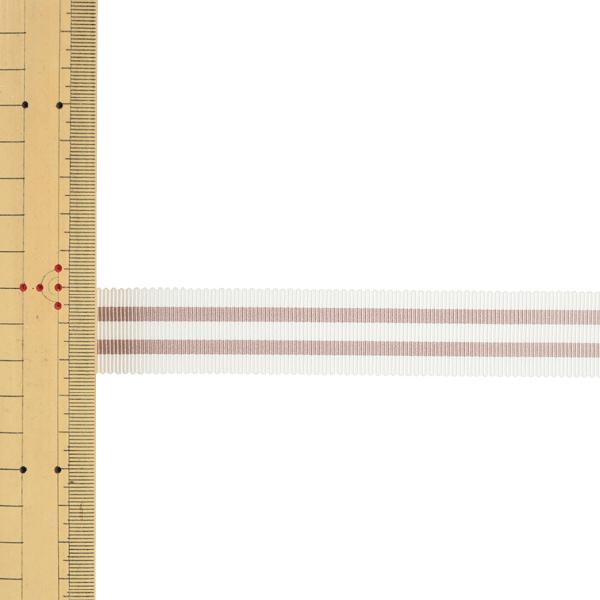 【数量5から】 リボン 『ストライプペタシャムリボン 幅約2.4cm 1番色 SIC-1120』