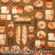 【食べ物生地最大20%オフ】 【数量5から】 生地 『オックス 犬パン柄 チョコレート YP31-9603-1B』 【ユザワヤ限定商品】