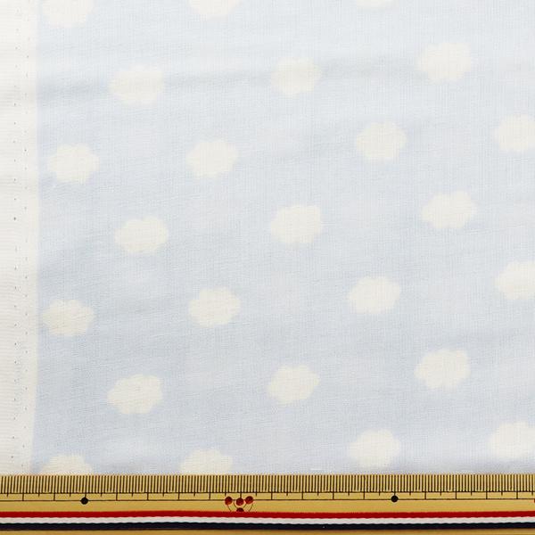 【数量5から】生地 『Wガーゼ (ダブルガーゼ) プリント ホーミーコレクション くも柄 ライトブルー GH12987S-D』