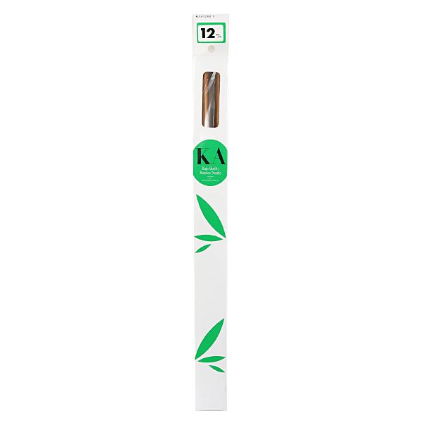 【編み物道具最大20%オフ】 棒針 『硬質竹編針 玉付き 2本針 40cm 12mm』 編み針 マンセル