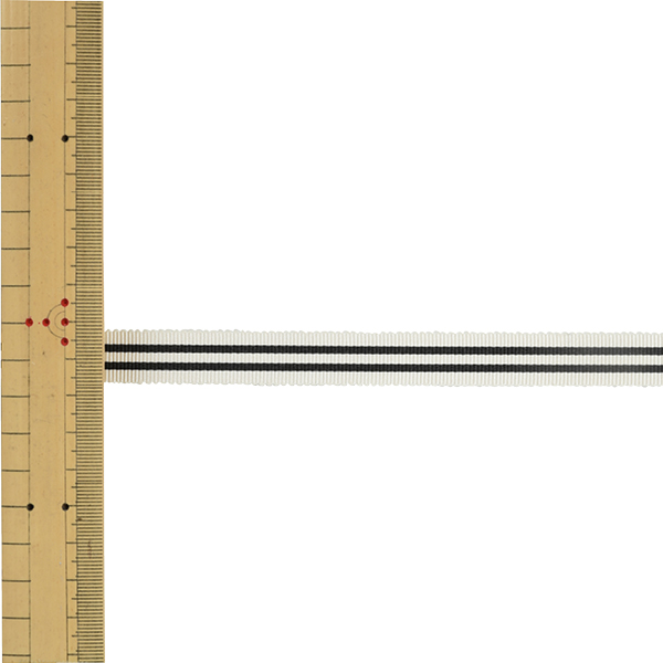 【数量5から】 リボン 『ストライプペタシャムリボン 幅約1.5cm 4番色 SIC-1120』