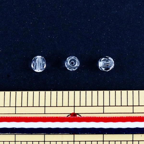 ビーズ 『ファイアポリッシュ クリスタル 5mm 20粒入』