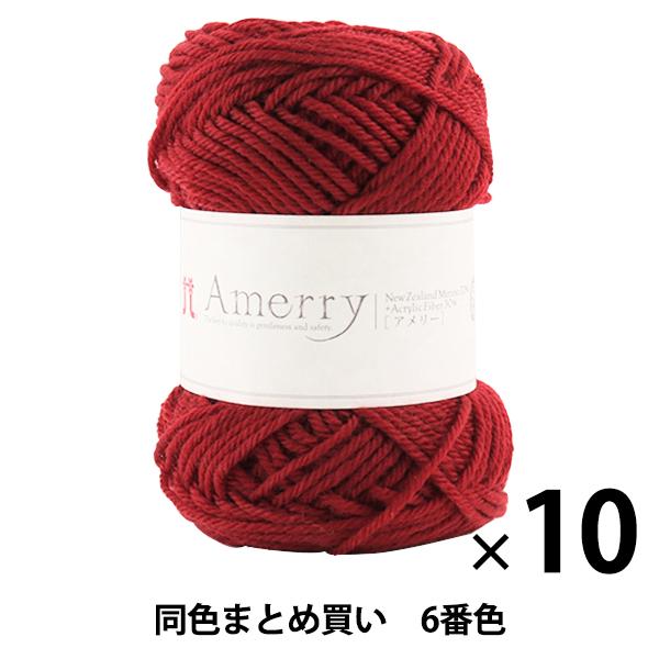 【10玉セット】秋冬毛糸 『Amerry(アメリー) 6番色』 Hamanaka ハマナカ【まとめ買い・大口】