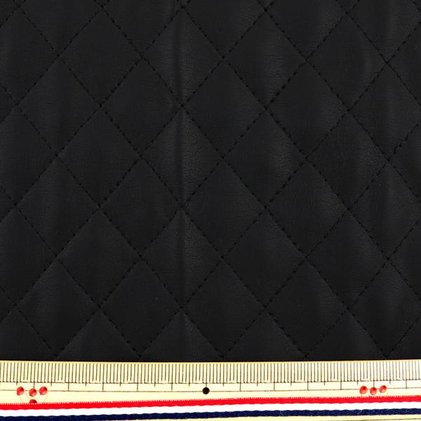 生地 『フェイクレザー カットクロス 合皮キルト 1番色 約65×50cm FC-200-01BK』