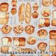 【数量5から】 生地 『オックス 犬パン柄 ラベンダー YP31-9603-1D』 【ユザワヤ限定商品】