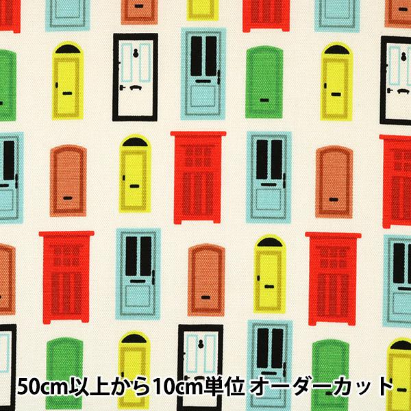 【数量5から】生地 『オックス ドア柄 CC153027-1』 YUWA 有輪商店