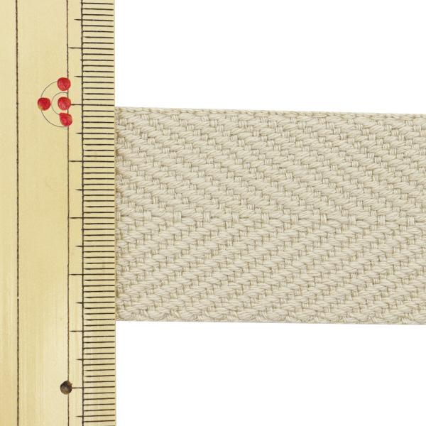【数量5から】 手芸テープ 『太綾テープ 38mm #523 ベージュ』 【ユザワヤ限定商品】