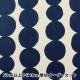 【数量5から】 生地 『綿麻キャンバス 団子柄 YUZ-773-2 白×紺』 【ユザワヤ限定商品】