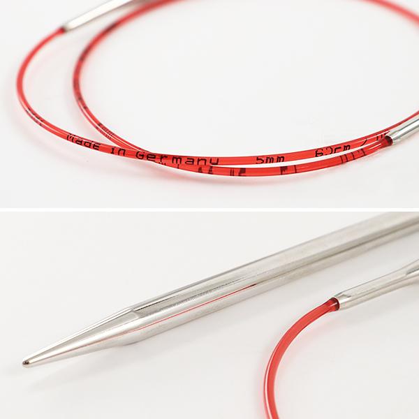 編み針 『addiレース輪針シルバー 40cm 針サイズ6.0mm』 addi アディ