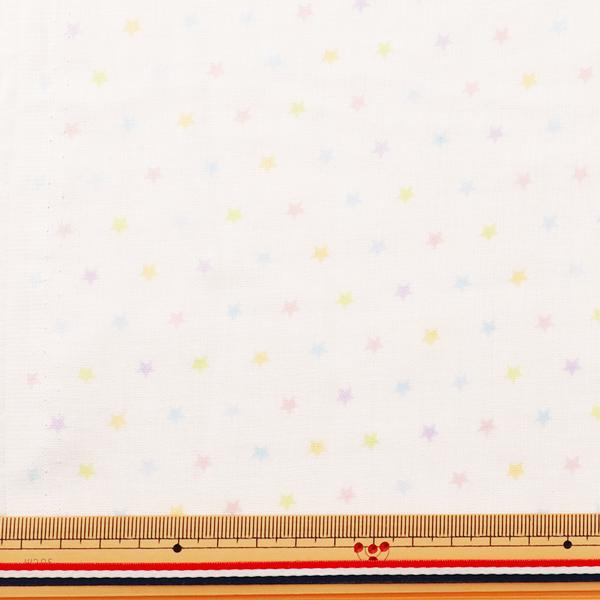 【数量5から】生地 『Wガーゼ (ダブルガーゼ) ホーミーコレクション 星柄 パステル GH13044S-B』