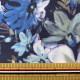 【数量5から】生地 『オーガンジープリント 水彩フラワー 002 ネイビー』