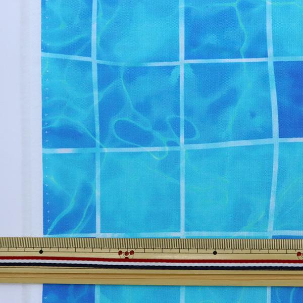 【数量5から】生地 『シーチング インクジェットプリント 水面柄 ブルー YPA-21040-1A』 KOKKA コッカ