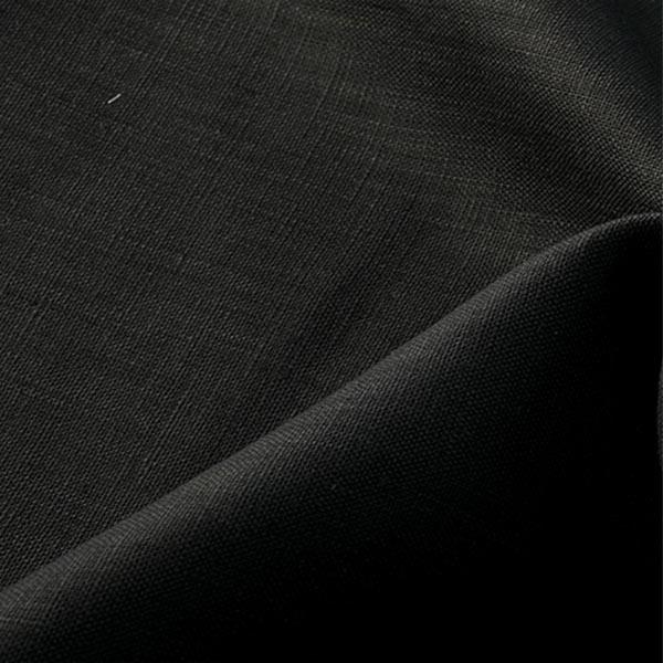【数量5から】生地 『麻 (リネン) ブラック』