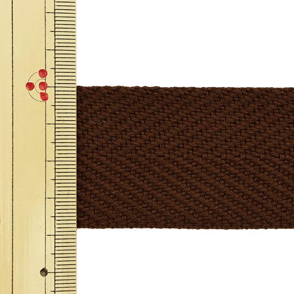 【数量5から】 手芸テープ 『太綾テープ 38mm #527 焦茶』 【ユザワヤ限定商品】