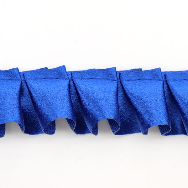 【数量5から】 フリルリボンテープ 『サテンボックスフリル 藍色 35番色 8100F-35』