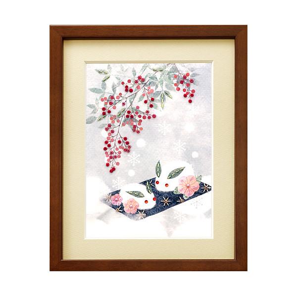 ビーズキット 『ビーズデコールキット 日本の四季 2月 雪うさぎと南天 BHD-52』 MIYUKI ミユキ