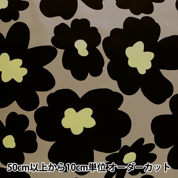 【数量5から】生地 『ツイルプリント 北欧調 花柄 ブラック KTS3676-E』 COTTON KOBAYASHI コットンこばやし 小林繊維