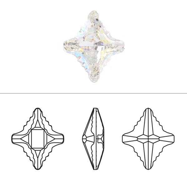 スワロフスキー 『#4927 Rhombus Tribe クリスタルAB 14×12mm 1粒』 SWAROVSKI スワロフスキー社