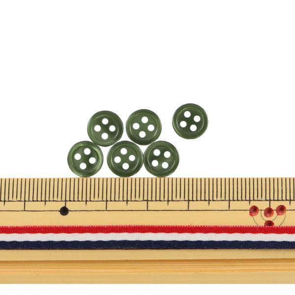 ボタン 『シャツボタン 四つ穴 9mm 6個入り 68番色 PVSO9001-68-9』
