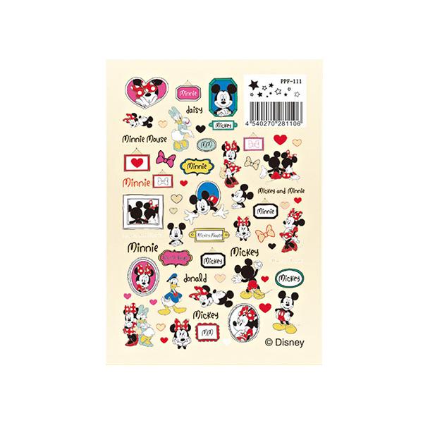 レジンフィルム 『ディズニー ホワイトデザインフィルム ミッキー&ミニー&ドナルド&デイジー PPF-111』 ERUBERU エルベール