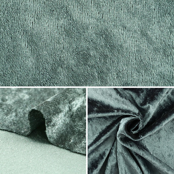 【数量5から】生地 『クラッシュベロア グレー 灰色 GD3300-289』