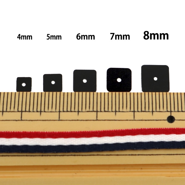スパンコール 『四角 5mm SQ 17番色』