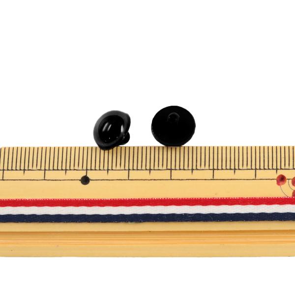 手芸 目 パーツ 『B目ボタン式 茶 10.5mm 6個入』