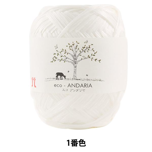 手芸糸 『エコアンダリヤ 1番色』 Hamanaka ハマナカ