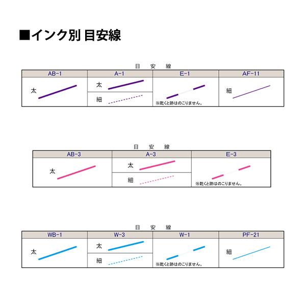 手芸用マーカーペン 『チャコエース ファインマーカー 細書き 青 PF-21』