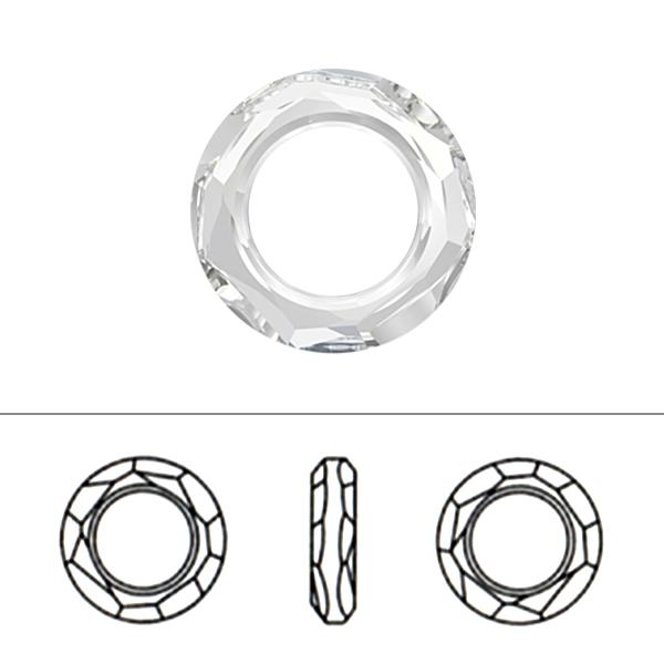 スワロフスキー 『#4139 Cosmic Ring Fancy Stone クリスタルシルバーシェード 14mm 1粒』 SWAROVSKI スワロフスキー社