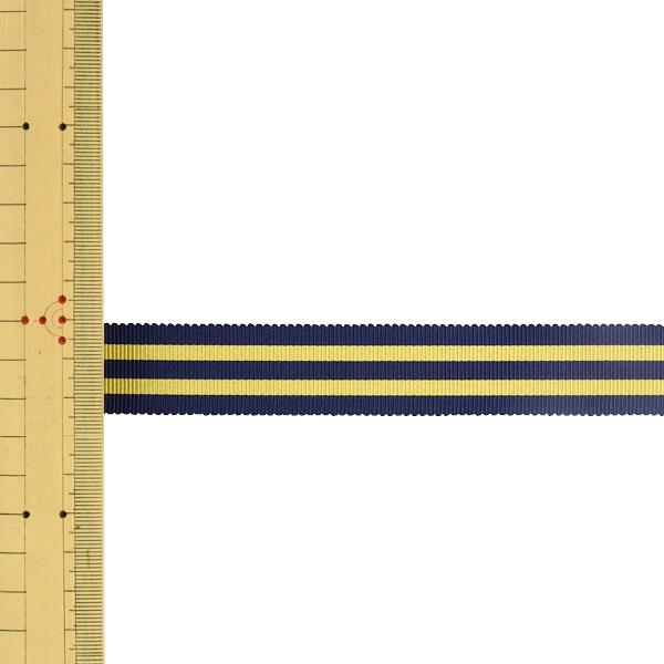【数量5から】 リボン 『ストライプペタシャムリボン 幅約2.4cm 18番色 SIC-1120』