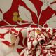 【数量5から】生地 『ツイルプリント 木の実と花柄 レッド KSP5541-C』 COTTON KOBAYASHI コットンこばやし 小林繊維