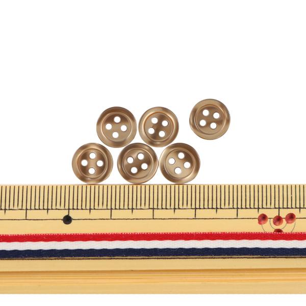 ボタン 『シャツボタン 四つ穴 10mm 6個入り 47番色 PVSO9001-47-10』