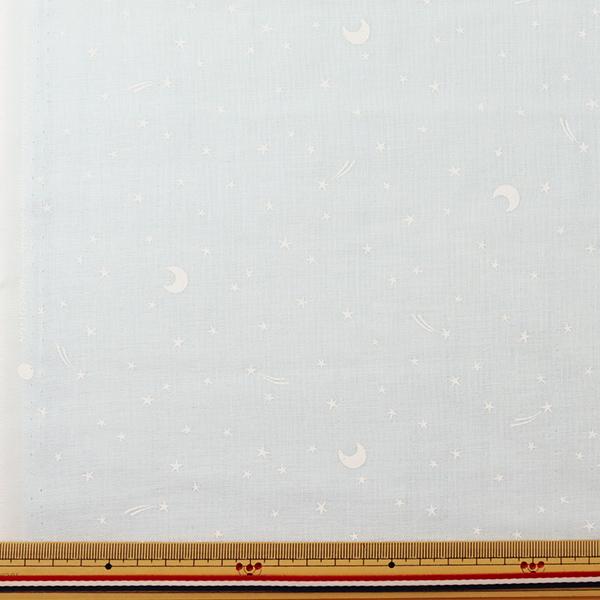 【数量5から】生地 『Wガーゼ (ダブルガーゼ) ホーミーコレクション 星柄 デニム風 アイスブルー GH10096S-C』