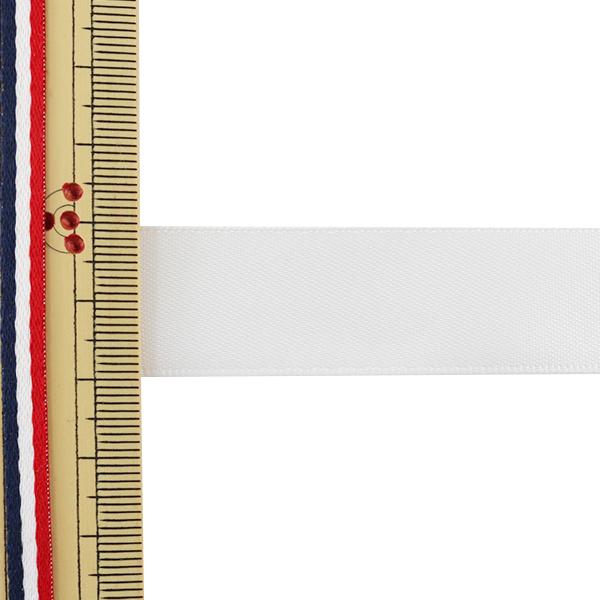 リボン 『両面サテンリボン オフホワイト 19mm×3m』