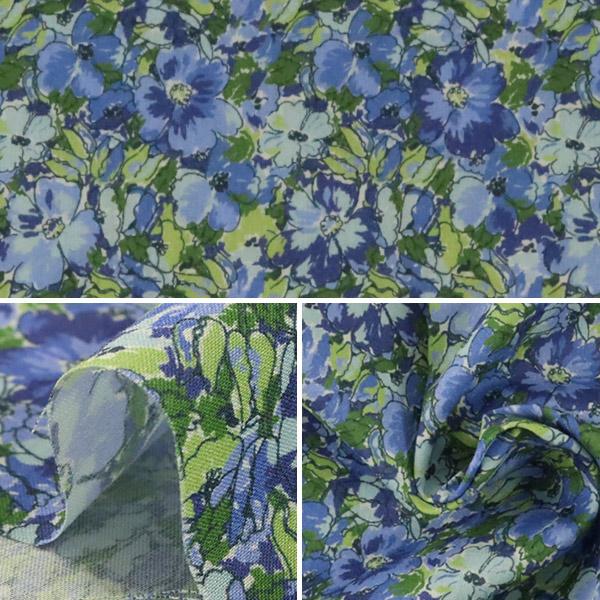 【数量5から】生地 『LIBERTY リバティプリント タナローン カラーフィールズ ブルー』 Liberty Japan リバティジャパン