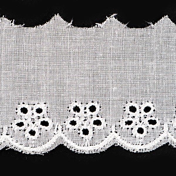 【数量5から】 『綿レース 白 幅約30mm』 23476